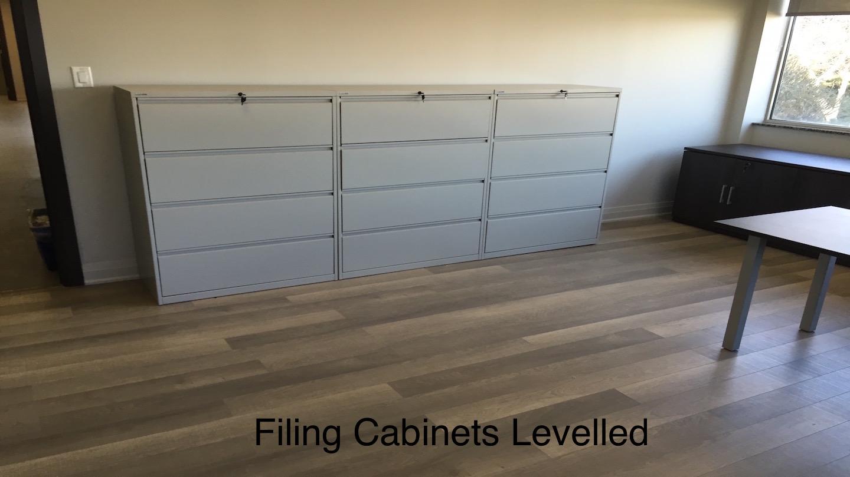 Filing Cabinet Leveled